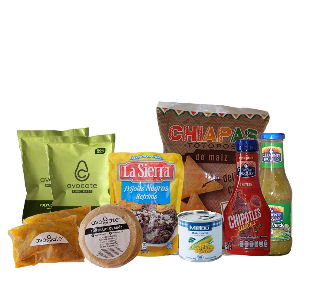 Combo de Comida Mexicana para Preparar Tacos para 4 personas